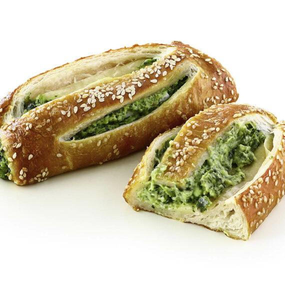 3297 Snack de bretzel con espinacas